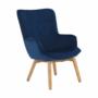 Kép 2/19 - FODIL Dizájnos fotel,  kék Velvet anyag