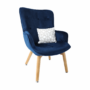 Kép 7/19 - FODIL Dizájnos fotel,  kék Velvet anyag