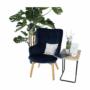 Kép 8/19 - FODIL Dizájnos fotel,  kék Velvet anyag