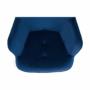Kép 12/19 - FODIL Dizájnos fotel,  kék Velvet anyag
