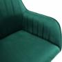 Kép 14/20 - TARAM Hintaszék,  zöld Velvet anyag