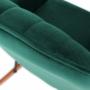 Kép 15/20 - TARAM Hintaszék,  zöld Velvet anyag