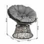Kép 6/35 - TRISS Forgófotel párnával,  szürke/fekete/világosszürke