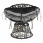 Kép 7/35 - TRISS Forgófotel párnával,  szürke/fekete/világosszürke