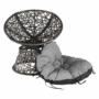 Kép 9/35 - TRISS Forgófotel párnával,  szürke/fekete/világosszürke
