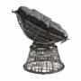 Kép 12/35 - TRISS Forgófotel párnával,  szürke/fekete/világosszürke