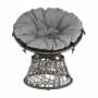Kép 14/35 - TRISS Forgófotel párnával,  szürke/fekete/világosszürke