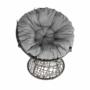 Kép 15/35 - TRISS Forgófotel párnával,  szürke/fekete/világosszürke