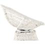 Kép 4/38 - TRISS Forgófotel párnával,  fehér/petróleumkék