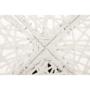 Kép 6/38 - TRISS Forgófotel párnával,  fehér/petróleumkék