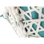 Kép 7/38 - TRISS Forgófotel párnával,  fehér/petróleumkék