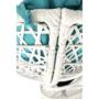 Kép 8/38 - TRISS Forgófotel párnával,  fehér/petróleumkék