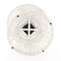 Kép 11/38 - TRISS Forgófotel párnával,  fehér/petróleumkék
