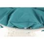 Kép 15/38 - TRISS Forgófotel párnával,  fehér/petróleumkék