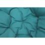 Kép 18/38 - TRISS Forgófotel párnával,  fehér/petróleumkék