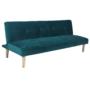 Kép 4/18 - ALIDA kanapé széthúzhatós, smaragd/tölgy
