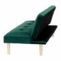 Kép 16/18 - ALIDA kanapé széthúzhatós, smaragd/tölgy