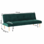 Kép 18/18 - ALIDA kanapé széthúzhatós, smaragd/tölgy