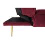 Kép 5/15 - RODANA Széthúzhatós kanapé,  málna Velvet anyag/gold króm-arany