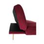 Kép 6/15 - RODANA Széthúzhatós kanapé,  málna Velvet anyag/gold króm-arany