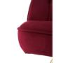 Kép 8/15 - RODANA Széthúzhatós kanapé,  málna Velvet anyag/gold króm-arany