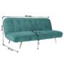 Kép 5/22 - RODANA széthúzhatós kanapé,  petróleum/arany