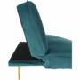 Kép 8/22 - RODANA Széthúzhatós kanapé,  petróleum Velvet anyag/gold króm-arany