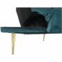 Kép 8/21 - RODANA Széthúzhatós kanapé,  petróleum Velvet anyag/gold króm-arany