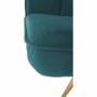Kép 10/21 - RODANA Széthúzhatós kanapé,  petróleum Velvet anyag/gold króm-arany