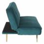 Kép 16/22 - RODANA Széthúzhatós kanapé,  petróleum Velvet anyag/gold króm-arany