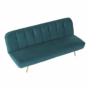 Kép 19/21 - RODANA Széthúzhatós kanapé,  petróleum Velvet anyag/gold króm-arany