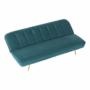 Kép 21/22 - RODANA Széthúzhatós kanapé,  petróleum Velvet anyag/gold króm-arany