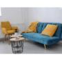 Kép 2/22 - RODANA Széthúzhatós kanapé,  petróleum Velvet anyag/gold króm-arany