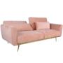 Kép 4/25 - HORSTA Széthúzhatós kanapé,  rózsaszín Velvet anyag/gold króm-arany