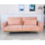 Kép 6/25 - HORSTA Széthúzhatós kanapé,  rózsaszín Velvet anyag/gold króm-arany