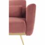 Kép 22/25 - HORSTA Széthúzhatós kanapé,  rózsaszín Velvet anyag/gold króm-arany