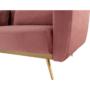 Kép 23/25 - HORSTA Széthúzhatós kanapé,  rózsaszín Velvet anyag/gold króm-arany