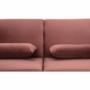 Kép 24/25 - HORSTA Széthúzhatós kanapé,  rózsaszín Velvet anyag/gold króm-arany