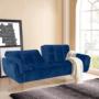Kép 4/23 - FILEMA Széthúzhatós kanapé,  királykék/tölgy