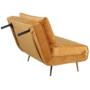 Kép 2/27 - MILIN Fotel ágyfunkcióval,  mustár Velvet anyag/gold króm arany