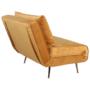 Kép 4/27 - MILIN Fotel ágyfunkcióval,  mustár Velvet anyag/gold króm arany