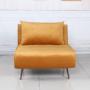 Kép 6/27 - MILIN Fotel ágyfunkcióval,  mustár Velvet anyag/gold króm arany