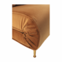 Kép 12/27 - MILIN Fotel ágyfunkcióval,  mustár Velvet anyag/gold króm arany