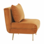 Kép 17/27 - MILIN Fotel ágyfunkcióval,  mustár Velvet anyag/gold króm arany