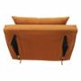 Kép 24/27 - MILIN Fotel ágyfunkcióval,  mustár Velvet anyag/gold króm arany