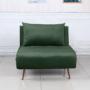 Kép 6/27 - MILIN Fotel ágyfunkcióval,  zöld Velvet anyag/gold króm arany
