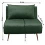 Kép 7/27 - MILIN Fotel ágyfunkcióval,  zöld Velvet anyag/gold króm arany