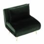 Kép 12/27 - MILIN Fotel ágyfunkcióval,  zöld Velvet anyag/gold króm arany
