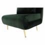 Kép 14/27 - MILIN Fotel ágyfunkcióval,  zöld Velvet anyag/gold króm arany