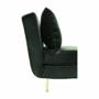 Kép 18/27 - MILIN Fotel ágyfunkcióval,  zöld Velvet anyag/gold króm arany